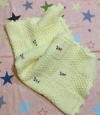 Copertina lana neonato  fatta a mano