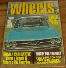 1974.WHEELS.XB FALCON 500.450 SEL.HQ Holden PREMIER.BMW 2002.URRACO.FIAT.AUDI