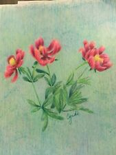 colored pencil drawing flowers peony flowers