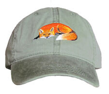 Red Fox Embroidered Cotton Cap NEW Hat Mammal Wildlife
