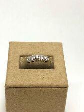 Vintage 14K White Gold CZ Diamonique Ring