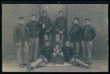 Military war maskcot Collie dog original 1910s Private real photo RPPC postcard