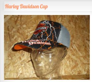 Harley Davidson Baseball Cap mit Muster Blitz Mütze Kappe Motor Cycles WoW Neu