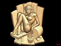 (426) STL Model Sauna Bath for CNC Router 3D Printer  Artcam Aspire Bas Relief