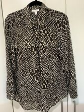 Charter Club Macys Leopard Print Long Sleeve Shirt New With Tags $100 Size L