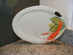 ITALIAN LOBSTER SEAFOOD PLATTER WITH RAISED ELEMENTS 3D - 45CM LONG