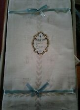 IMPORTED VINTAGE DAMASK BELGIUM LINEN TABLECLOTH & NAPKINS