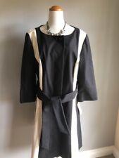 Semantiks Dress Coat Size XL Nordstrom Black/Ivory Retail $158