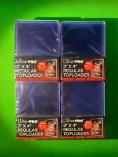 Ultra Pro Factory Sealed New 3x4 inch Regular Toploader 25 Pack x4 (100 Total)