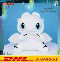 "18"" LIGHT FURY How to Train Your Dragon 3 DreamWorks Pillow Movie Doll Plush Toy"