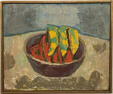 Unsigned STILL LIFE Oil Painting PEPPERS attributed BERNARD CHAET