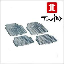 Set 4 Tappetini Cromati Universali Tappeti in gomma Simil Alluminio Tuning