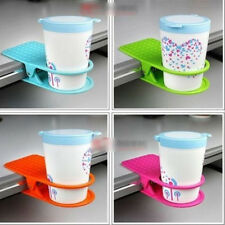 Creative Office Home Room Desk Table Drink Water Coffee Mug Clip On Cup Holder