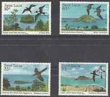 Timbres Oiseaux Ste Lucie 759/62 ** lot 17381