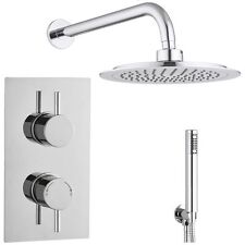 Barcelona Round Twin with Diverter TMV2 Concealed Thermostatic Shower Valve