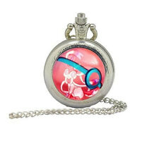 Pokeball Sylveon Quartz Pocket Watches Necklace,gift Necklace,pokemon Necklace