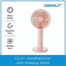Diginut CL-16 Handheld Fan with Mirror - Portable Fan - Handheld Fan Pink