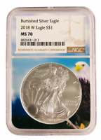 2018 W Burnished Silver Eagle NGC MS70 - Brown Label - Eagle Core