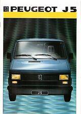 Prospekt / Brochure Peugeot J5 1986