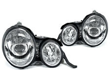 DEPO 96-99 Mercedes Benz W210 E Class Projector Chrome Headlight Pair DOT w/Bulb