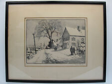 """Gordon Grant original limited edition lithograph """"First Snow"""" 1946 AAA Cert. SIP"""