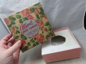 Vintage Milady Cosmetics FLORAL Bath Powder box. Full