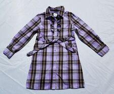 Gymboree Girls Cowgirls At Heart Dress Sz 5 Plaid Purple Vintage Tie Belt Shirt