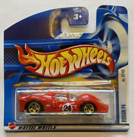 2002 Hotwheels Ferrari P4 first editions Red European Short Card Release MOC!