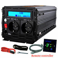 EDECOA 3000 Watt 6000W 12V dc to 220V 230V ac Car Power Inverter LCD & cables