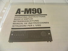 Sansui A-M90 Owner's Manual  Operating Instructions Istruzioni New