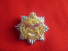 QOGTR - QUEENS OWN GURKHA TRANSPORT REGT SILVER PLATE / GILT CAP BADGE  UK ARMY