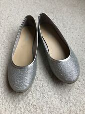 Kids Girls Ballet Flat sparkle Shoes Size 2 1/2 pre-owned