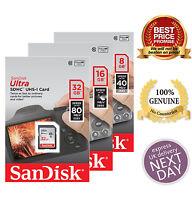 New Great Quality SanDisk Ultra 8GB 16GB 32GB Class 10 SDHC SDXC SD Memory Card