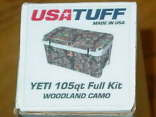New listing Usatuff Yeti 105qt Cooler Cover Wrap Woodland Camo Design Full Kit Sticker Decal