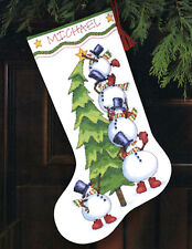 Cross Stitch Kit ~ Dimensions Trimming the Tree Christmas Stocking #8820