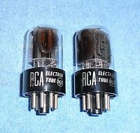 2 RCA 6SN7GTA Vacuum Tubes - 1954 Vintage Twin Side Getters Audio Twin Triodes