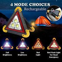 Warning Car Triangle Flashing LED COB Work With Light Road Emergency Lamp Lights