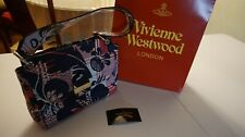 Vivienne Westwood Bag Dark Blue Leather Hand Bag Small Size Tigermania 321180