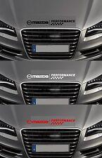 Para Mazda-Mazda rendimiento Bonnet cheques Coche Decal Sticker - 600mm de largo