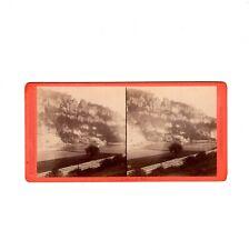 Hermann Krone Stereofotografie Sächsische Schweiz / Bastei - um 1870