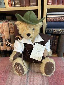 Hermann Teddy - Robin Hood Bear -Limited Edition - Label - Mohair - Vintage