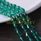 New 30pcs 12X8mm Faceted Teardrop Crystal Glass Spacer Loose Beads Peacock Green