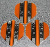 5 Packets of Brand New Ruthless Extra Strong Darts Flights - Orange