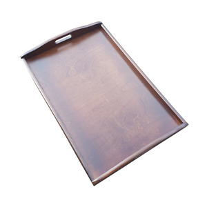 Extra Large Wooden Serving Tray,Set from 1 to 10,60 cm x 40 cm x 5.5 cm,- Brown