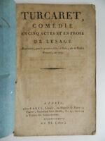 Turcaret Comedia Lesage De Fages 1802