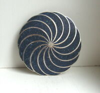 Vintage Taxco Mexico Sterling Silver Lapis Pinwheel Brooch Pin Pendant