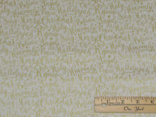 Oh Holy Night WORDS Nativity Religious Christmas Cotton Fabric  1/2 Yard #SC9553