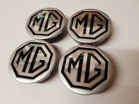 MGTF LE500 (New Genuine MG) ALLOY WHEEL CENTRE CAPS 54mm X 4  BLACK & SILVER