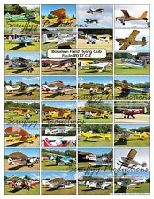 BOWMAN FIELD FLYING CLUB FLY-IN 2017 AIRCRAFT POSTER 2nd OF 2 Alphabetically C-Z