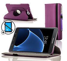 Leather Purple Rotating Smart Case Samsung Galaxy Tab A 7.0 Screen Prot & Stylus